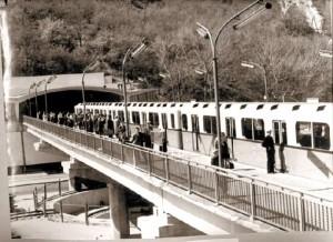 В Киеве введена в эксплуатацию первая очередь метрополитена (1960)
